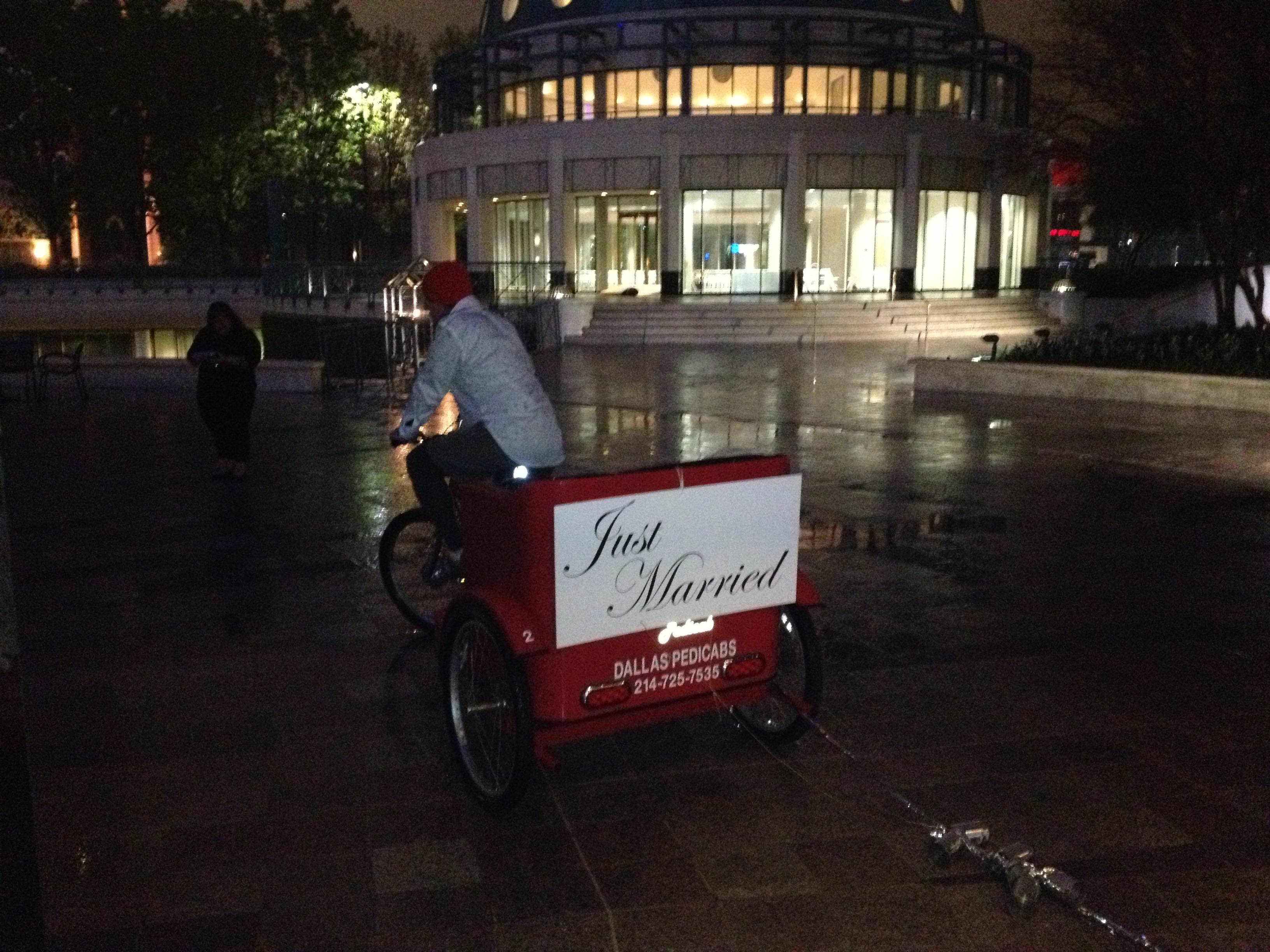 Pedicab Wedding Pic 1